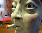 The Frenchman by Amber Duncan. Ceramic face jug.
