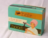 1960s Oster Hair Dryer Hood In Original Box