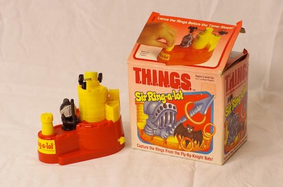 Retro 1985 T.H.I.N.G.S. Sir Ring-a-Lot Game By Milton Bradley
