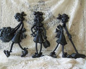 "1971 Sexton Metal Wall Art - ""Three Cleaning Ladies"""