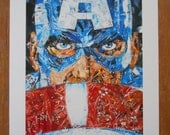 Red, White and Legend - Upcycled Art - BLENDEDimages