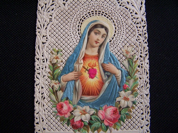 Lace Holy card