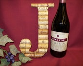 Wine Cork Monogram Letter Initial Wedding gift Personalized decoration J
