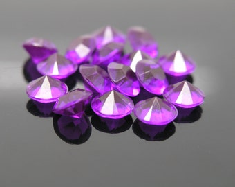 5,000pcs 8mm Acrylic Purple Diamonds Confetti Wedding Reception Table Scatter Decoration