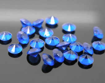 10,000pcs 4.5mm Acrylic Royal Blue Diamonds Confetti Wedding Reception Table Scatter Decoration