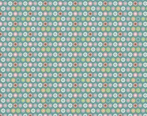 Fabric by the Yard Riley Blake Penny Lane Circles Blue c7104 1 yds