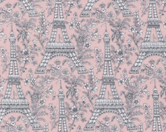 Michael MIller Fabric by the Yard Eiffel Tower - Blossom, 1 yard