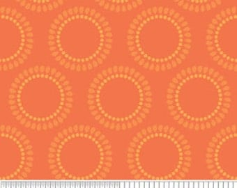 Fabric by the Yard Riley Blake Decadance Circles Orange, 1 yard, Discontinued by Manufacturer