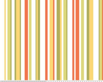 Fabric by the Yard Riley Blake Decadance Stripe Orange, discontinued by manufacturer
