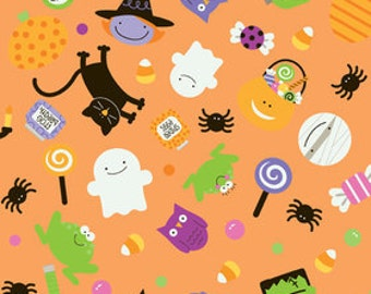 Fabric by the Yard Riley Blake Trick or Treat Orange C2530