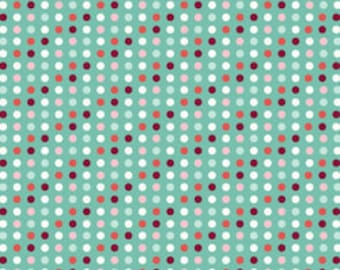 Fabric by the Yard Riley Blake Bloom and Grow Polka Dot Punch Blue C7034