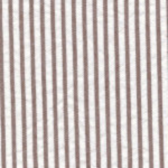 Fabric by the Yard Fabric Finders, Inc. 60 inch Brown Seersucker 100% Cotton