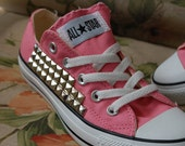 Studded Pink Converse