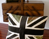 Green Union Flag Cushion