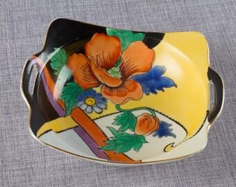 Hand Painted Noritake Two Handled Dish