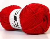 ICE Baby Love Red 4 100gr skeins Baby yarns