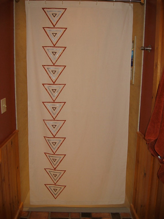 Rain Chain Shower Curtain Small: 40 x 82 by ShowerKurtainArtist