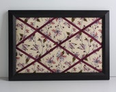 Pink Lillies and Burgundy Blossom Memory Board