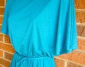 Blue 70s Diva Party Dress ( Medium)