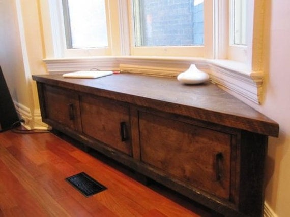 Bay Window Bench Cool Items Similar To Custom Made To Fit  Bay Window Seat Storage . Inspiration Design