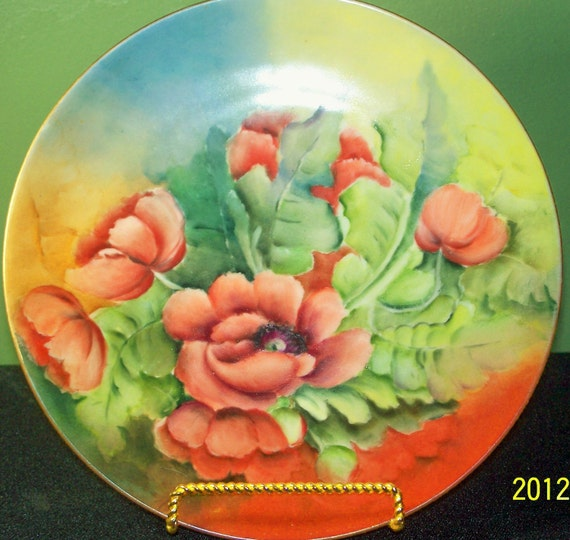 Antique Barvarian/German Poppy Plate by Rosenthal Mint Condition SALE 40% OFF