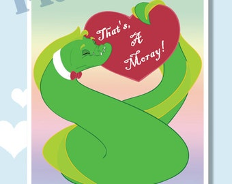 That's A Moray Valentine, set of twelve Holiday Monster greeting cards