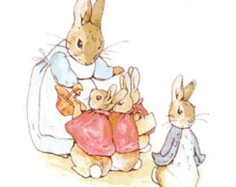 Handmade Beatrix Potter Peter Rabbit Classic Book Cross-Stitch Pattern