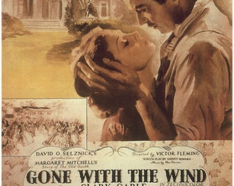 Gone With the Wind Movie Poster PDF Cross-Stitch Pattern