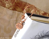Copper Bookmark for the Book Lover Gift for Grad and Avid Reader