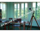 8x10 Photo: Hemingway House, Writing Atelier, Havana