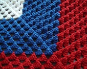 Crocheted Fourth of July Afghan
