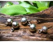 Mini Silver Bells Soundless Pendant 5PC