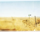 Southwest Landscape with Windmill Aged  Faded Vintage Style 5 x 7 Photographic Print