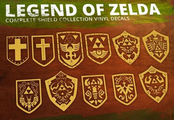 Legend of Zelda- Shield Complete Set Vinyl Decal