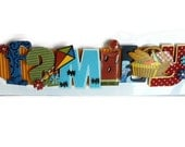 Summer Family Stacked Statement Scrapbooking Applique