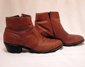 Vintage Leather Ankle Boots w/ Cross 11