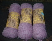 3 Skeins of vintage Mauve Acrylic/Nylon yarn