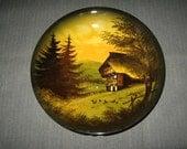 "Vintage 10.25"" Schramberg Germany Hand-Crafted Majolica Majolika Bowl"