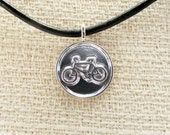 Bike Lane Charm in sterling silver