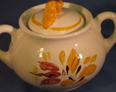 Lidded Sugar Bowl in Stangl's Provincial Pattern - JosChinaShop