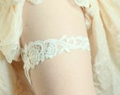 Special Offer for Limited Time Only 20% Off - Lace Ivory Garter, Bridal Lace Garter - Only One