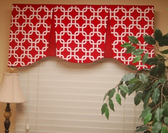 "Custom Made Valance EMILEE  Hidden Rod Pocket Valance fits 32""- 44"" window, You provide the fabrics, I provide the LABOR and lining"