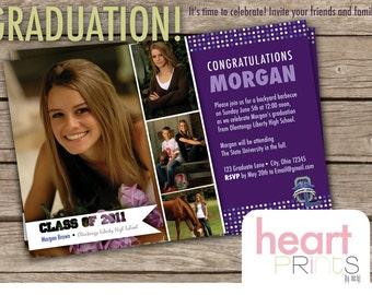 graduation photo invitation - digital file
