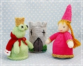 princess frog fairytale fairy egg cozy cosies PDF email knitting pattern