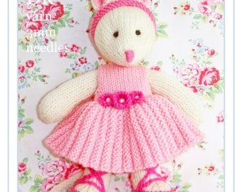 Free Knitting Pattern Angelina Ballerina : Nurse teddy bear in uniform PDF email knitting pattern