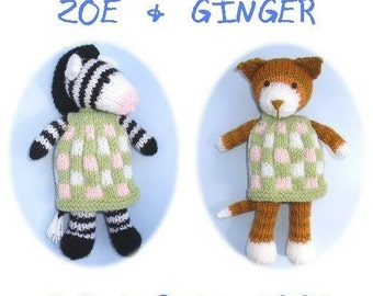 zebra horse pony kitten cat PDF email toy knitting pattern