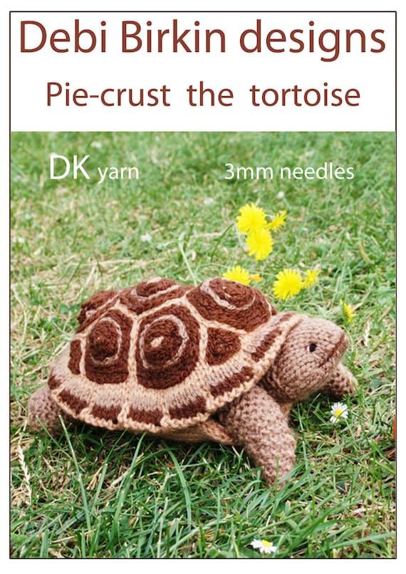 Knitting Patterns Turtle Toy : tortoise turtle PDF email toy knitting pattern