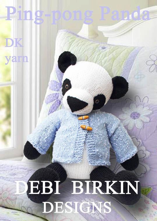 Free Knitting Patterns Panda Toy : Panda bear PDF email toy knitting pattern teddy