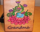 Personalized hand wood burned/painted box.