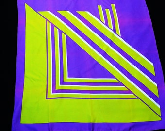 Fab Vintage 1960's HUGE Abstract Modern Art Scarf